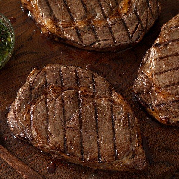 Dry-Aged USDA Choice Angus Ribeye Steak Cooked