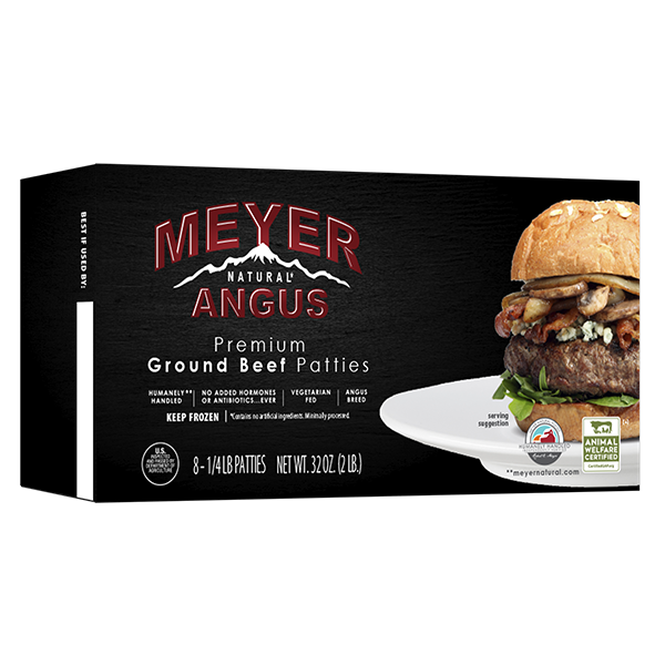 Natural Angus Ground Beef Patties - Front Package