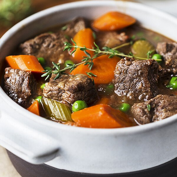 Grass-Fed Angus Beef Stew Meat - Cooked