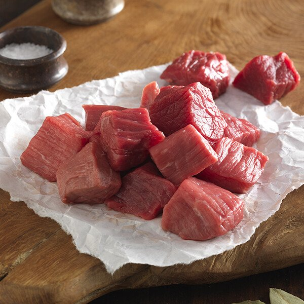 Grass-Fed Angus Beef Stew Meat - Raw