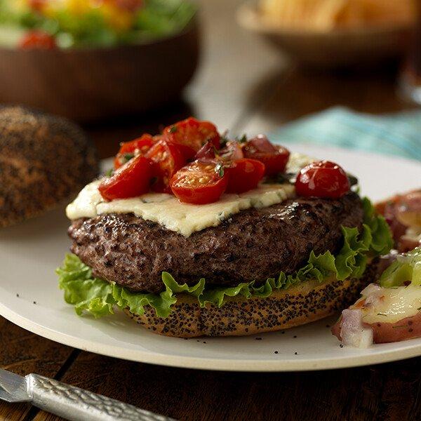 Natural Angus Ground Beef Patties - Burger - Side