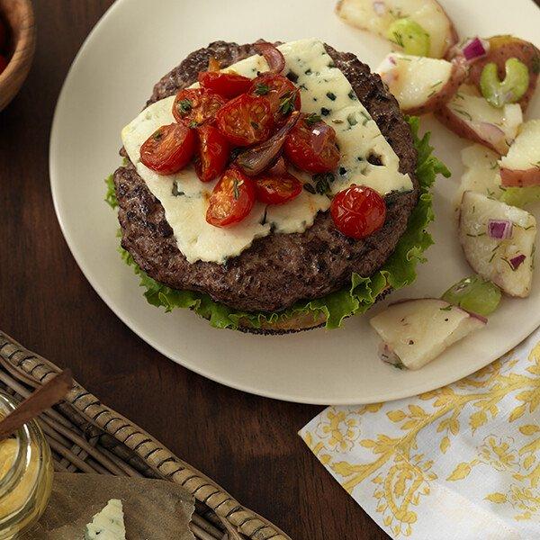Natural Angus Ground Beef Patties - Burger - Top